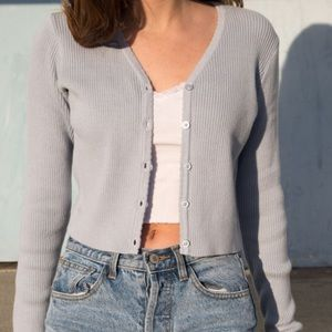 SOLD -Brandy Melville white Shannon cardigan